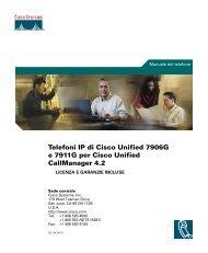 Telefoni IP di Cisco Unified 7906G e 7911G per ... - ASICT: home