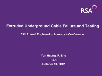 Underground Cable Risk and Testing