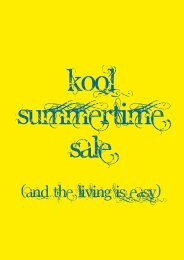 (and the living is easy) - Kool