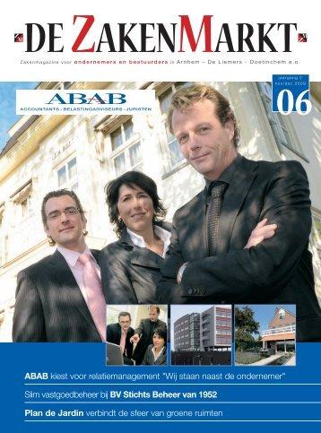 """ABAB kiest voor relatiemanagement """"Wij staan ... - De Zakenmarkt"""
