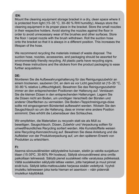 Standard Saugschlauchset - Allaway