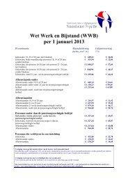 Wet Werk en Bijstand (WWB) per 1 januari 2013 - sozawe-nw-fryslân
