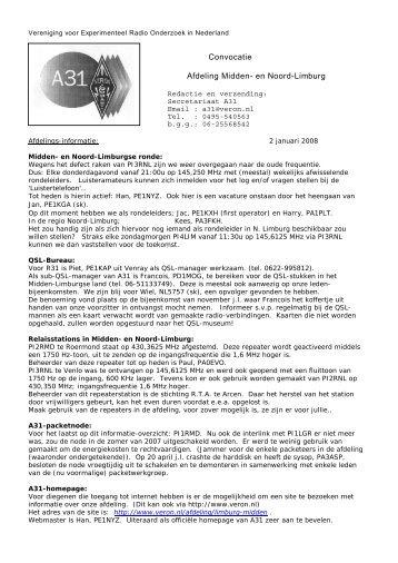 Convocatie Afdeling Midden- en Noord-Limburg - Nikhef