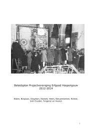 Beleidsplan - Erfgoedcel Haspengouw