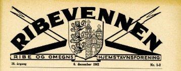 Ribevennen 6. dec. 1962 - Aldus.dk