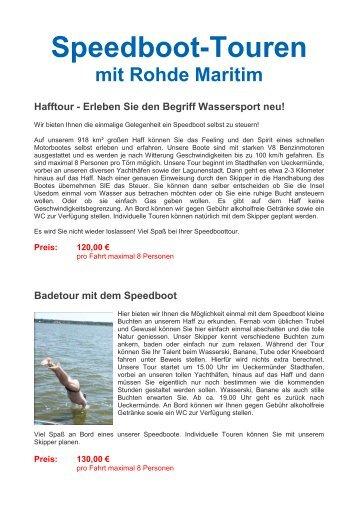 Speedboot-Touren