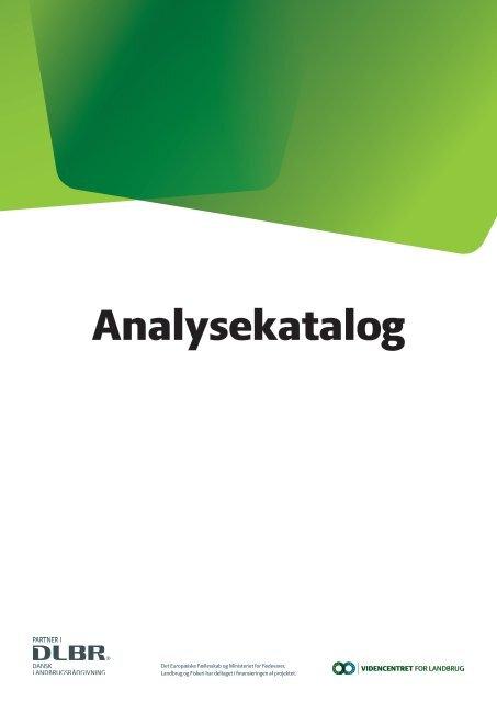 Analysekatalog - LandboSyd