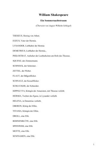 Ein Sommernachtstraum - Athanor Akademie