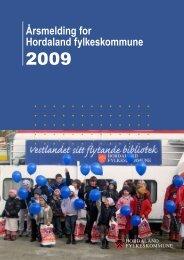 Årsmelding for Hordaland fylkeskommune - Politiske saker ...