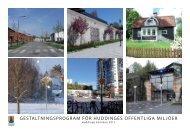 Gestaltningsprogram - Huddinge kommun