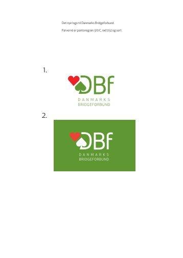 Det nye logo til Danmarks Bridgeforbund. Farverne er pantonegrøn ...