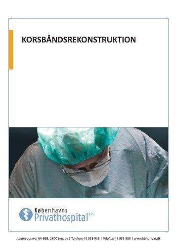 KORSBÅNDSREKONSTRUKTION - Københavns Privathospital