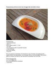 Pompoensoep met een ravioli van chioggia biet ... - Koksgilde