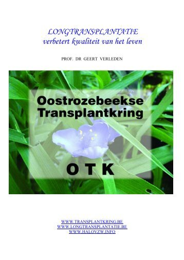 Brochure Longtransplantatie - Transplantkring.be