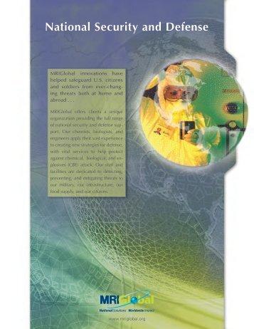 National Security & Defense Brochure - MRIGlobal
