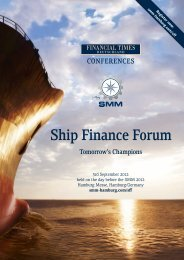 Brochure Ship Finance Forum 2012 - SMM