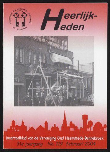 o - Historische Vereniging Heemstede-Bennebroek