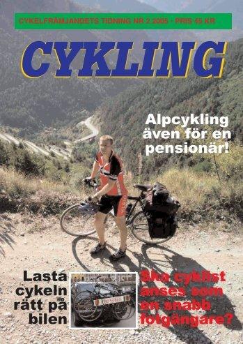 Läs Cykling nr:2-05 här (pdf-fil, 7Mbyte) - Cykelfrämjandet