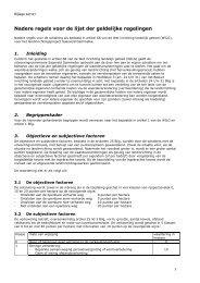 Bijlage 147-07b Lijst der Geldelijke Regelingen - Landinrichting ...