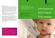 Informatie over DKTP-Hib en Pneu-prikken - GGD Zeeland
