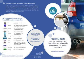 RICHTLIJNEN - Egea - European Garage Equipment Association