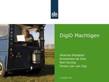 Werken met DigiD Machtigen - ICTU