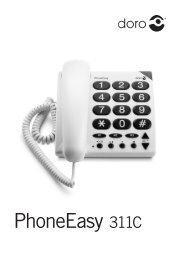 Manual Doro PhoneEasy 311c