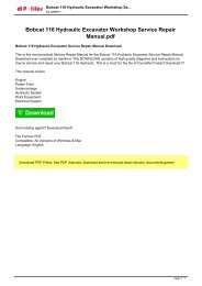 Bobcat A300 All Wheel Steel Loader Service Repair Manual pdf