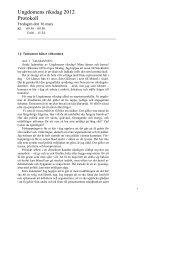 Protokollet (pdf, nytt fönster) - Riksdagen