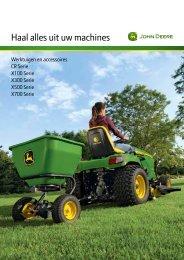 Brochure met accessoires voor zitmaaiers - John Deere