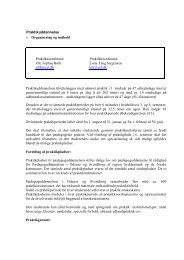 Praktikuddannelse o Organisering og indhold Praktikkoordinator ...