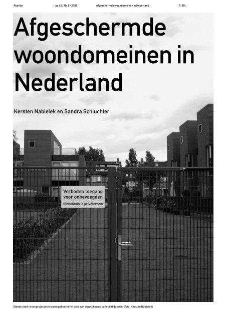 Afgeschermde woondomeinen in Nederland - Rooilijn