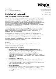 Ledelse af netværk 2012 & 2013 - WOGN