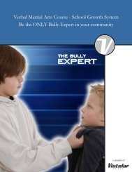 Verbal Martial Arts Course Brochure - The Bully Expert