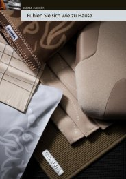 Scania Zubehör: Textilien - Fühlen Sie sich wie zu Hause