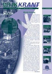 Jaargang 8 nr. 2 juli 2009 - Wijkraad Steyl