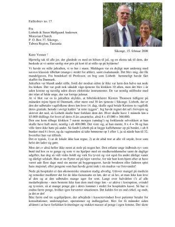 Fællesbrev no. 17 Fra Lisbeth & Steen Møllgaard Andersen ...