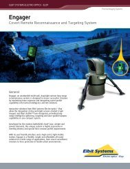 Engager - Covert Remote Reconnaissance and ... - Elbit Systems Ltd