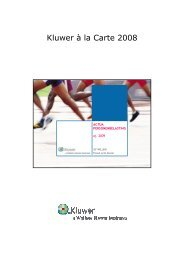 Kluwer à la Carte 2008 - TaxWorld