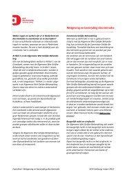 Wetgeving en bestrijding discriminatie ... - ADV Limburg