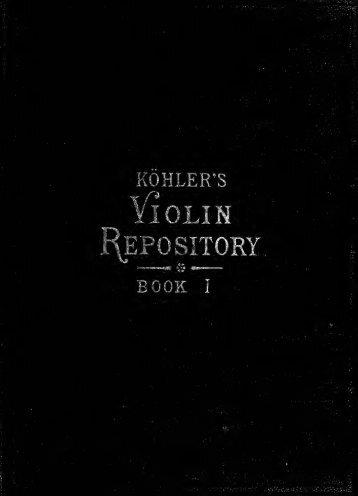 Köhler's Violin Repository, Book 1