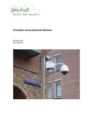 Evaluatie cameratoezicht Alkmaar - Gemeente Alkmaar