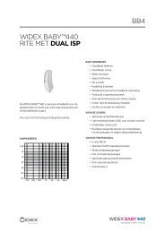 WIDEX BABY™440 rItE mEt dual isp BB4
