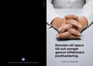 Konsten att spara tid och pengar genom effektivare ... - Posten