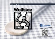 Menukaart à la carte - Wolfstee