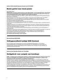 Artikel uit Provinciale Zeeuwse Courant van 18-02 ... - GGD Zeeland