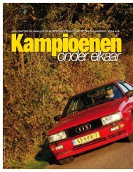 Audi quAttro en LAnciA deLtA HF integrALe evoLuzione zetten ...