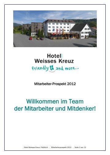Mitarbeiterprospekt 2012 - Hotel Weisses Kreuz Feldkirch
