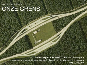 Import Export Architecture - Vlaams Bouwmeester