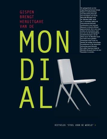 Creating 5 - artikel heruitgave Mondial stoel - Gispen